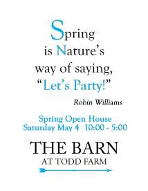 The Barn Promo Card front - Spring Open House 2019